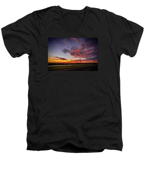 Sunset Along Jd Men's V-Neck T-Shirt