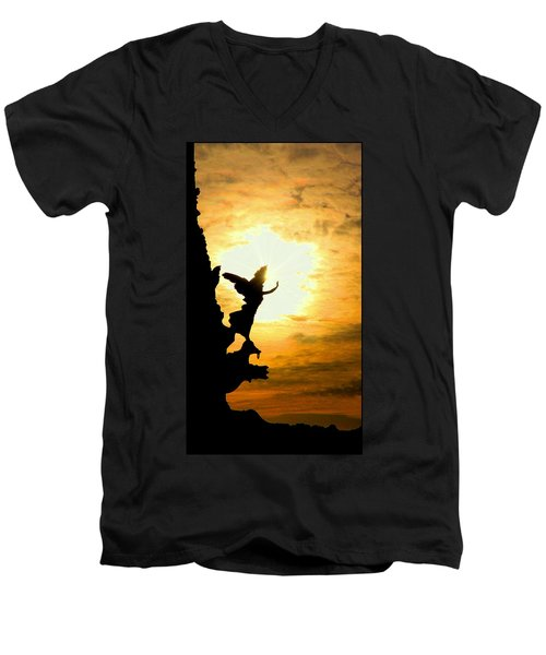 Sunset Angel Men's V-Neck T-Shirt