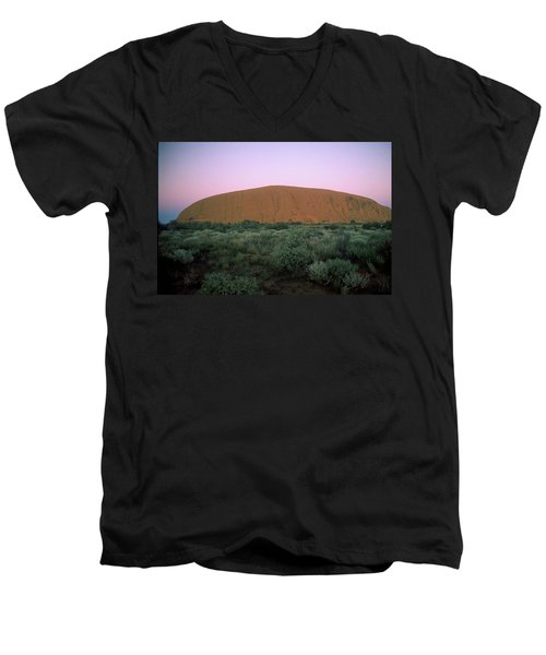 Sunset At Ayre's Rock Men's V-Neck T-Shirt