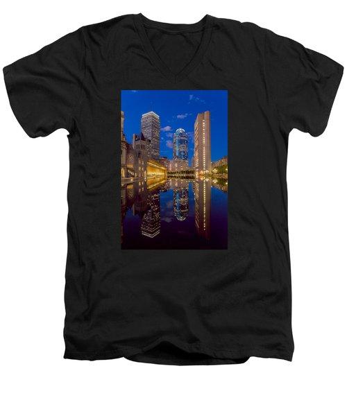Sunset At Christian Plaza Men's V-Neck T-Shirt