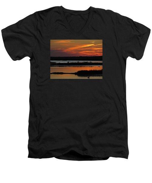 Sunset At Forsythe Reserve 2 Men's V-Neck T-Shirt