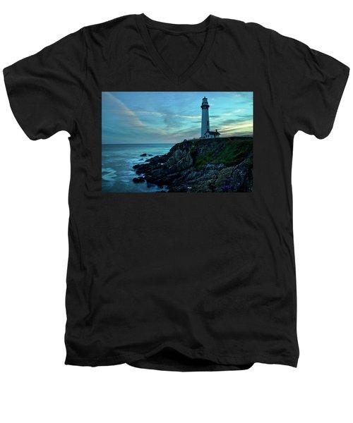 Sunset At Pigeon Point Men's V-Neck T-Shirt