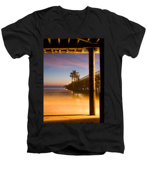 Sunset At San Clemente Men's V-Neck T-Shirt