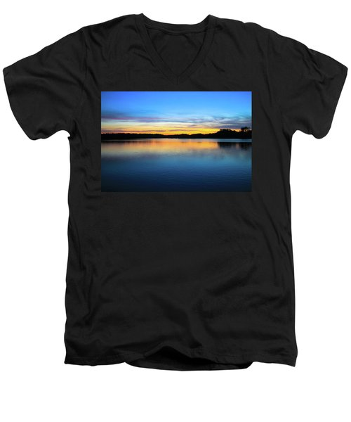 Sunset At Stumpy Lake Virginia Beach Men's V-Neck T-Shirt