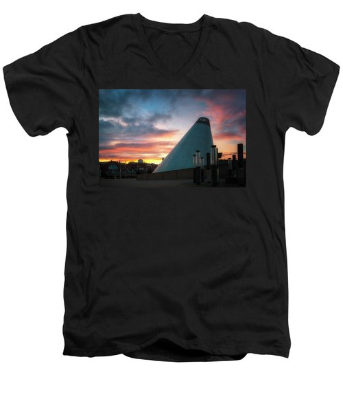 Sunset At The Museum Of Glass Men's V-Neck T-Shirt