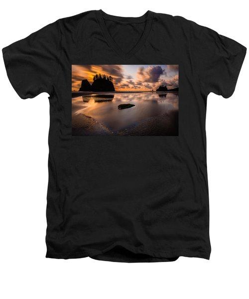 Sunset Breeze Tranquility Men's V-Neck T-Shirt