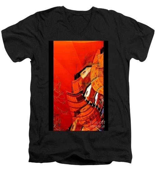 Sunset Building Men's V-Neck T-Shirt by Thibault Toussaint