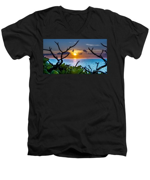 Sunset By The Point Men's V-Neck T-Shirt