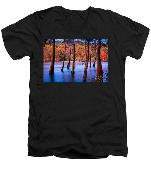 Sunset Cypresses Men's V-Neck T-Shirt