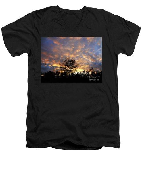Sunset Glow Men's V-Neck T-Shirt