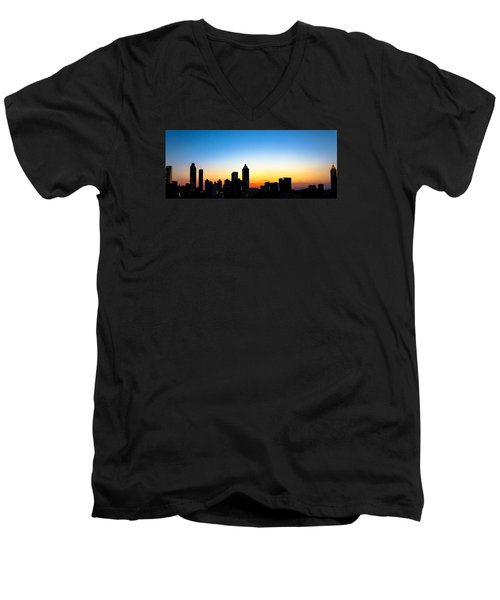 Sunset In Atlaanta Men's V-Neck T-Shirt