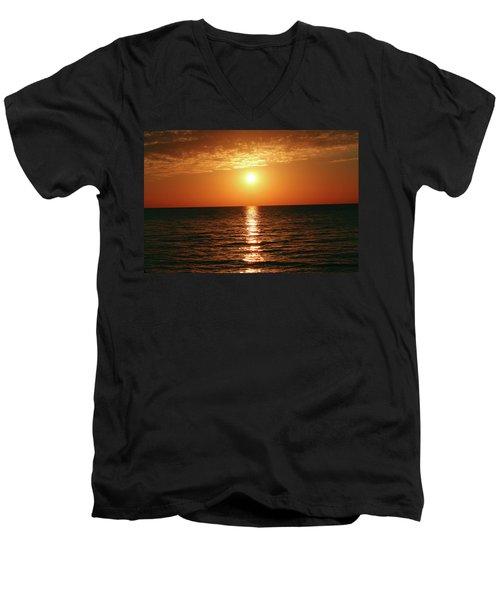 Sunset In Bimini Men's V-Neck T-Shirt