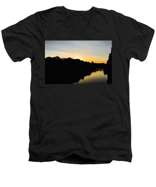 Sunset In Rome Men's V-Neck T-Shirt