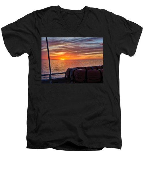 Sunset In The Gulf Men's V-Neck T-Shirt