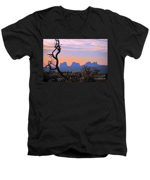 Sunset In Utah Men's V-Neck T-Shirt
