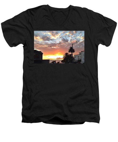 Sunset Laguna Oct 2015 Men's V-Neck T-Shirt by Dan Twyman