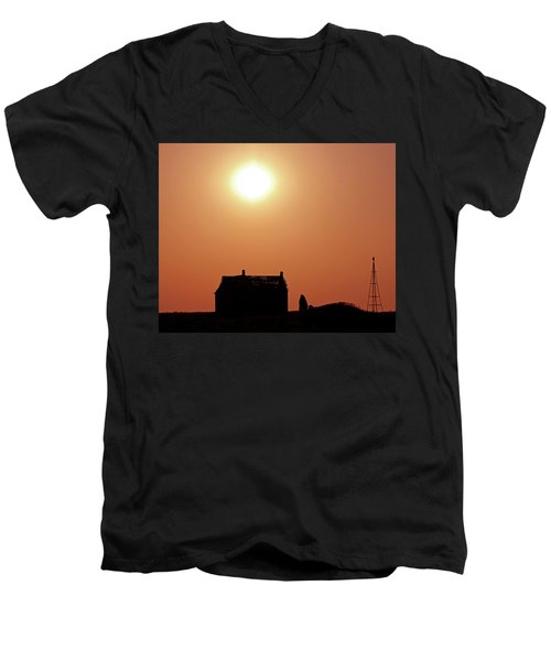 Sunset Lonely Men's V-Neck T-Shirt by Christopher McKenzie