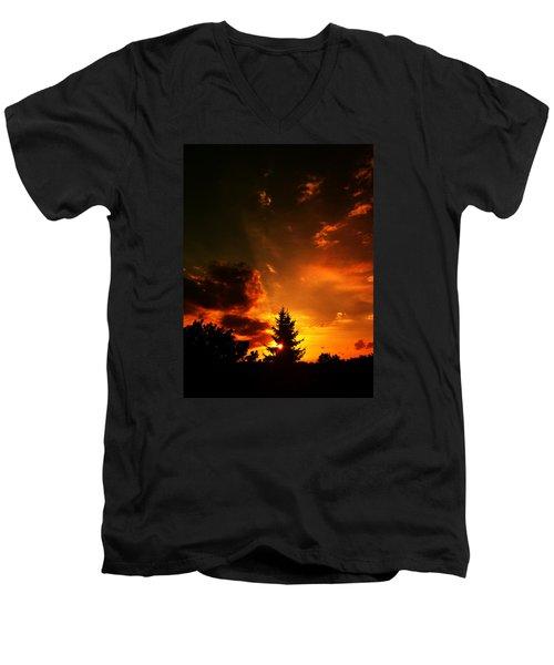 Sunset Madness Men's V-Neck T-Shirt by Flavien Gillet