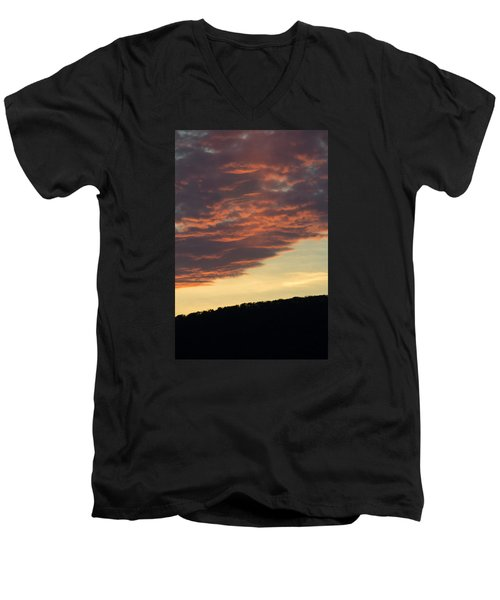 Men's V-Neck T-Shirt featuring the photograph Sunset On Hunton Lane #8 by Carlee Ojeda