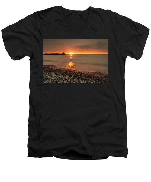 Sunset On Huron Lake Men's V-Neck T-Shirt