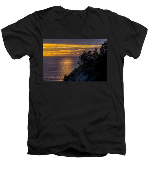 Sunset On The Edge Men's V-Neck T-Shirt