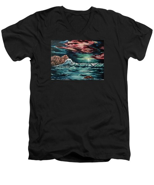 Sunset On The Horizon Men's V-Neck T-Shirt