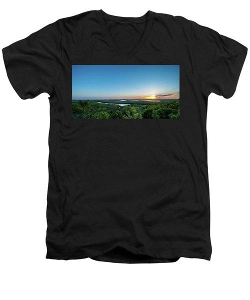 Sunset On The Outer Banks Men's V-Neck T-Shirt