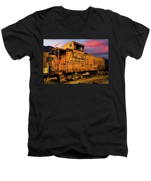 Sunset On The Rio Grande Men's V-Neck T-Shirt
