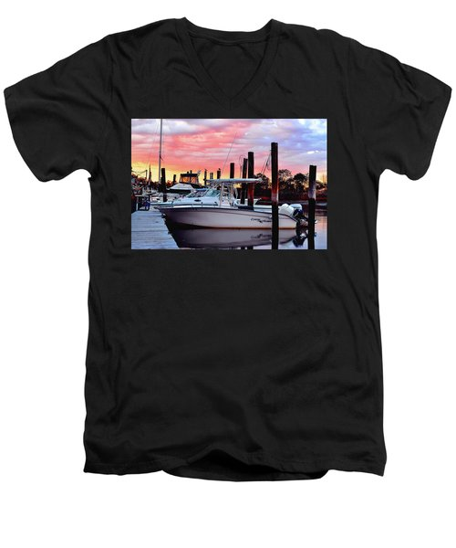 Sunset On The Water Men's V-Neck T-Shirt