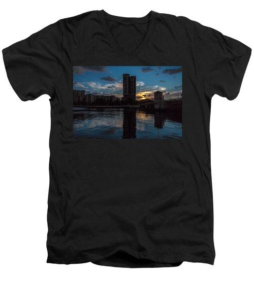 Sunset On The Water Men's V-Neck T-Shirt