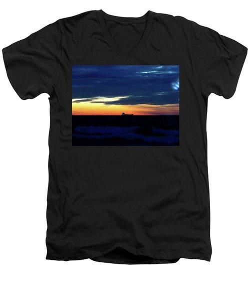 Sunset On Winter Solstice Eve Men's V-Neck T-Shirt