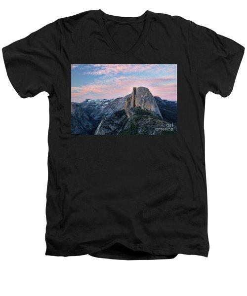 Sunset Over Half Dome Men's V-Neck T-Shirt