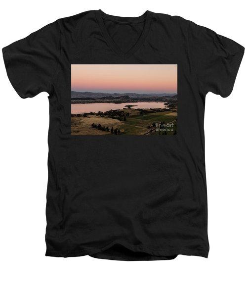 Sunset Over Lake Wanaka In New Zealand Men's V-Neck T-Shirt