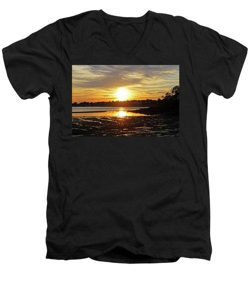 Sunset Over Lynch Park Beverly Ma Men's V-Neck T-Shirt
