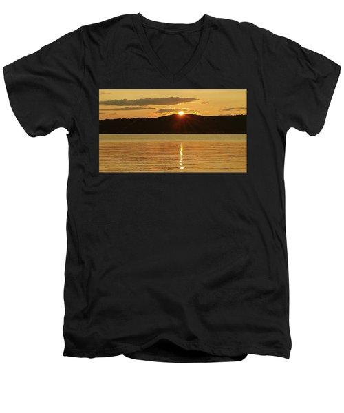 Sunset Over Piermont Men's V-Neck T-Shirt