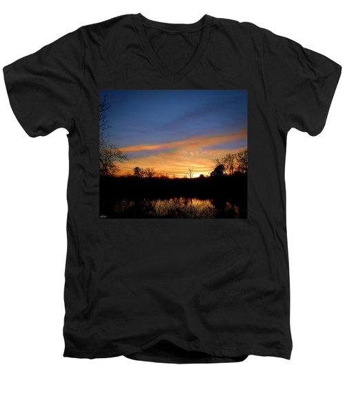 Sunset Over The Sabine 02 Men's V-Neck T-Shirt