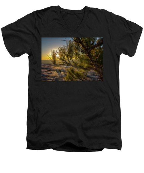 Sunset Pines Men's V-Neck T-Shirt