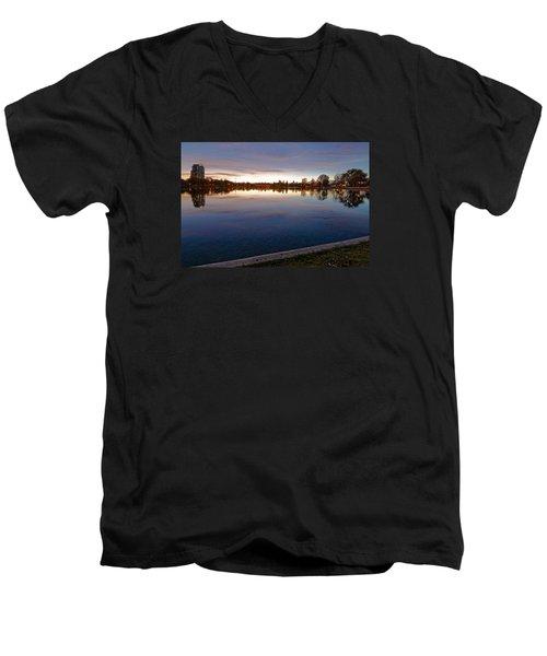 Sunset Pond Men's V-Neck T-Shirt