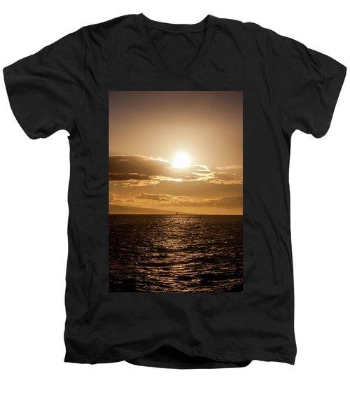 Sunset Sailboat Men's V-Neck T-Shirt