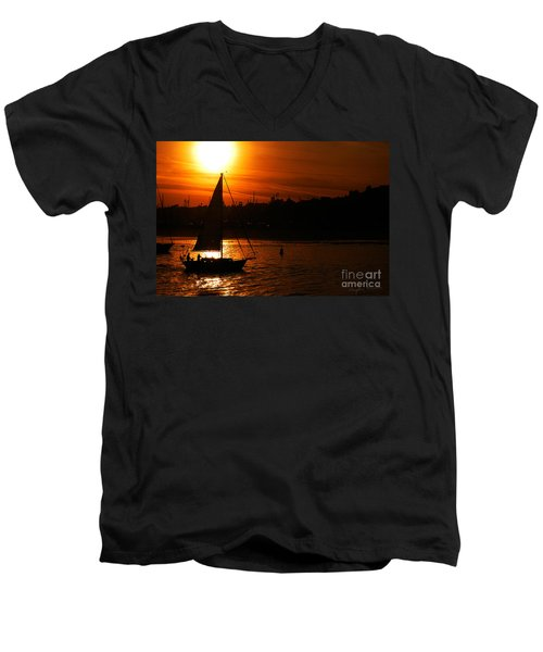 Sunset Sailing Men's V-Neck T-Shirt