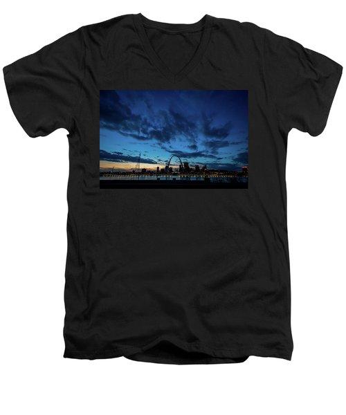 Sunset St. Louis IIi Men's V-Neck T-Shirt