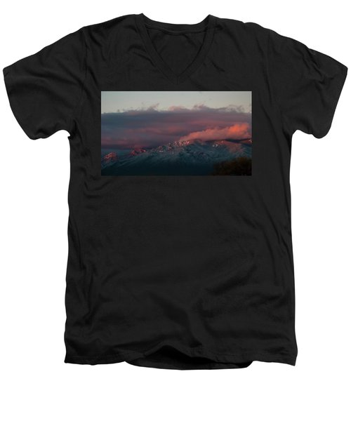 Sunset Storm On The Sangre De Cristos Men's V-Neck T-Shirt