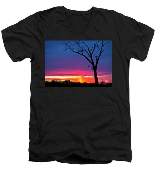 Sunset Sundog  Men's V-Neck T-Shirt