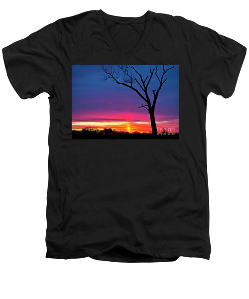 Sunset Sundog  Men's V-Neck T-Shirt