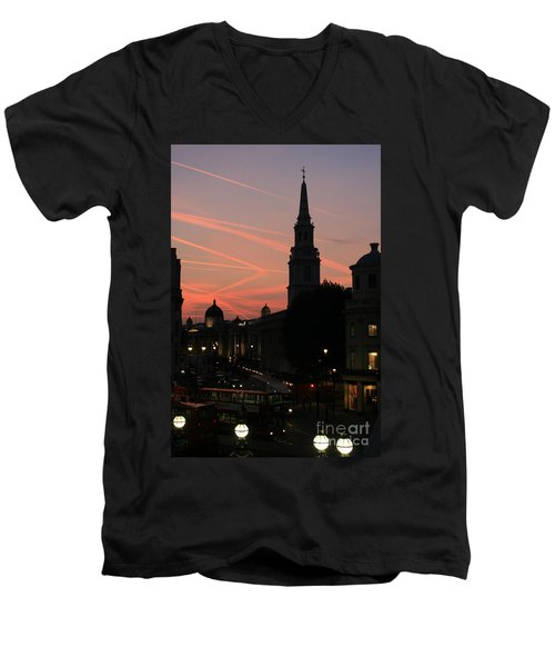 Sunset View From Charing Cross  Men's V-Neck T-Shirt
