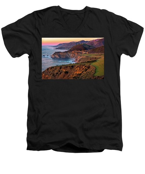 Sunset View From Hurricane Point Men's V-Neck T-Shirt