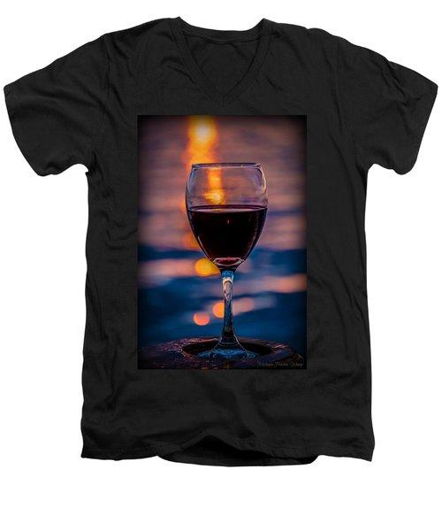 Sunset Wine Men's V-Neck T-Shirt