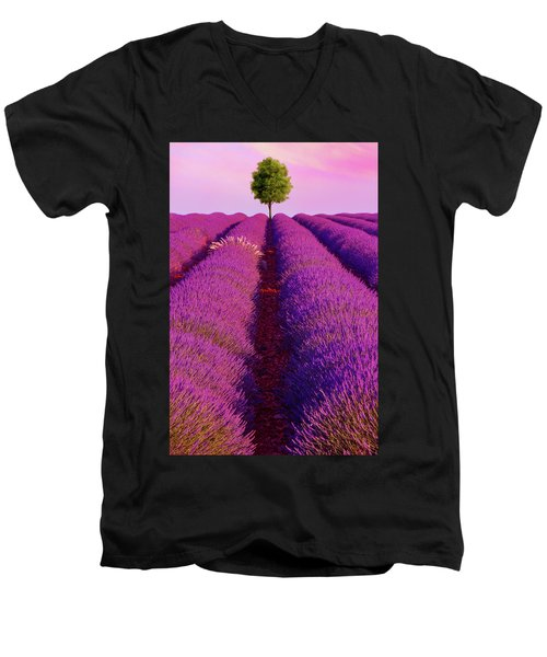 Sunsets Are Purple Men's V-Neck T-Shirt