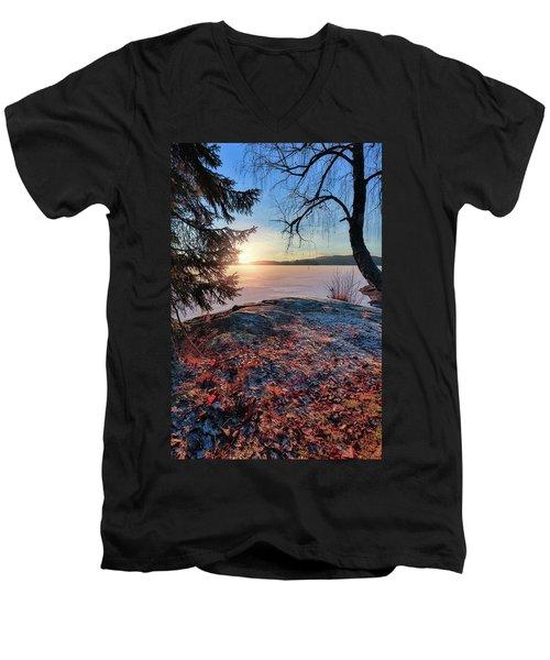 Sunsets Creates Magic Men's V-Neck T-Shirt by Rose-Marie Karlsen