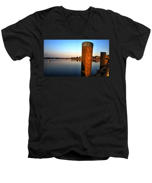 Sunshine On Onset Bay Men's V-Neck T-Shirt